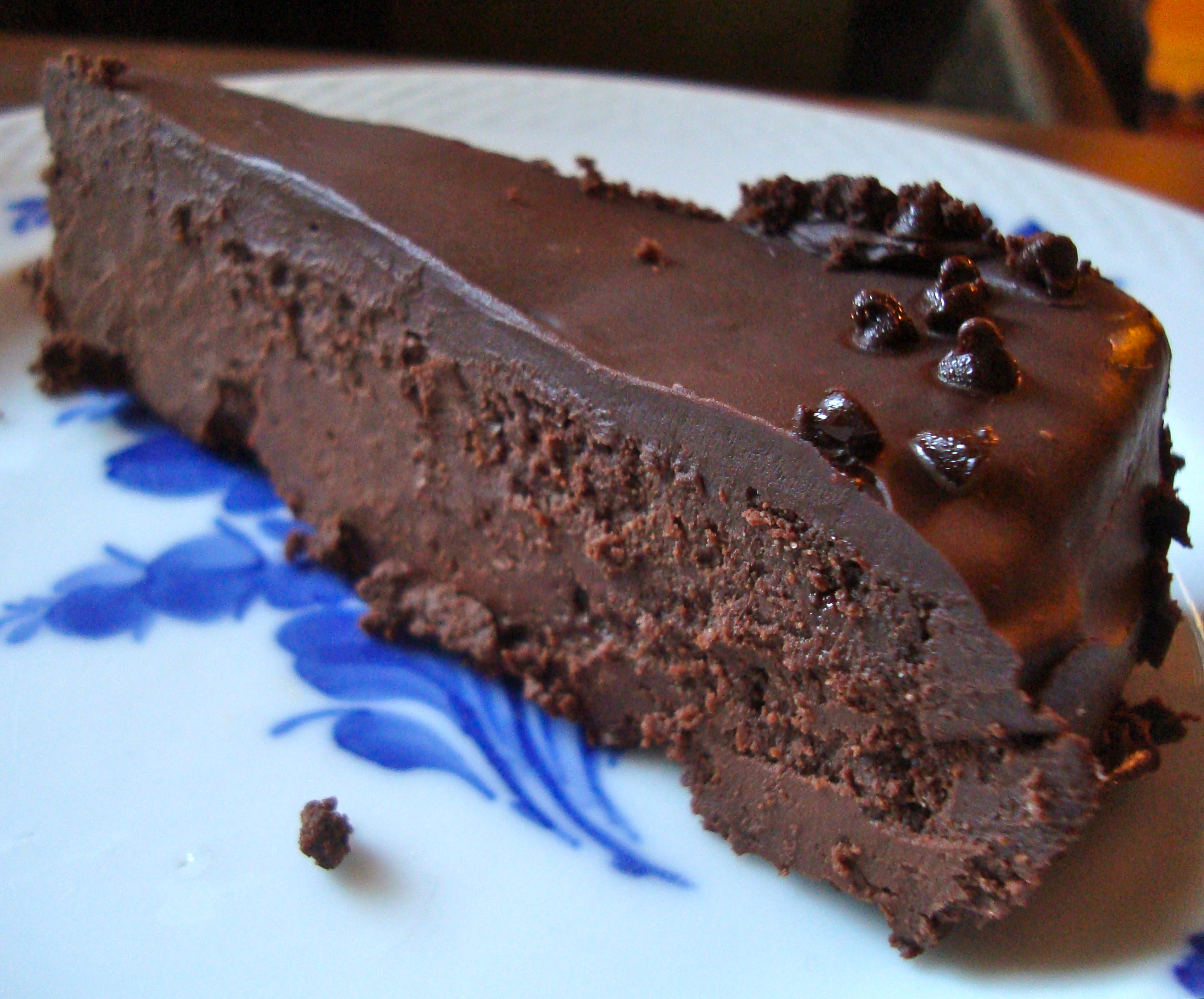 ... told you about and B. this ganache-laden flourless chocolate cake