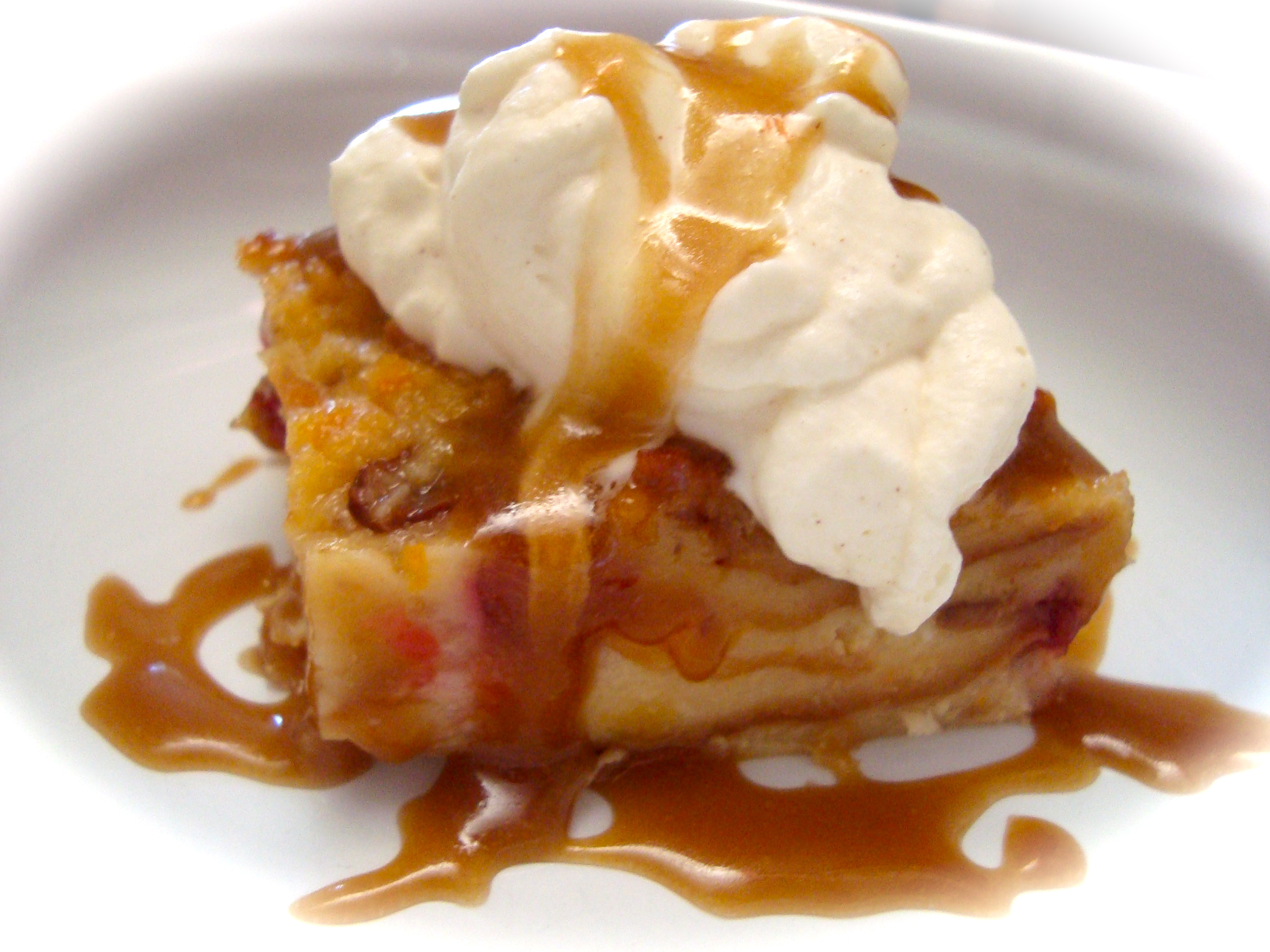 ... bread pudding with Joe's butterscotch and cinnamon whipped cream