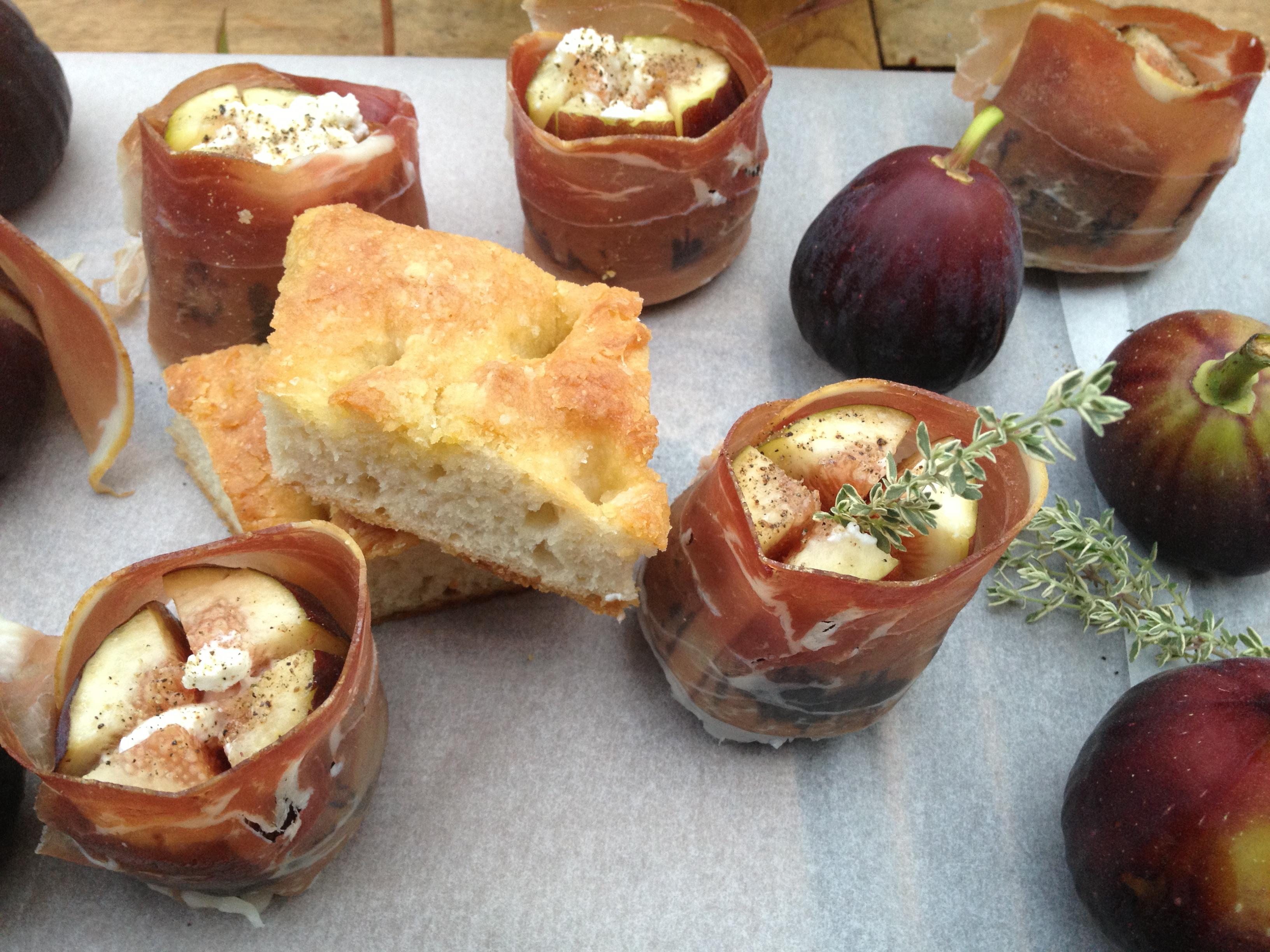 Prosciutto Wrapped Gorgonzola Stuffed Figs Recipe — Dishmaps