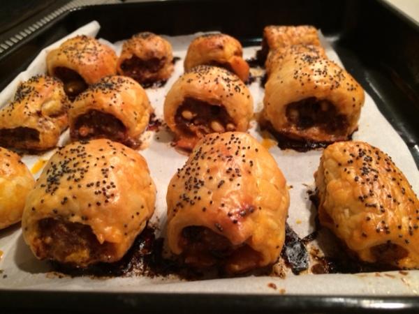 lamb & harissa sausage rolls